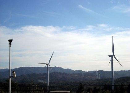 風車でいっぱいの風の駅