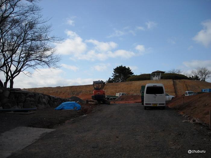 工事中の老の山公園