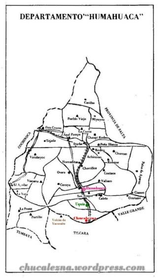 Depto Humahuaca Mapa Chucalezna-