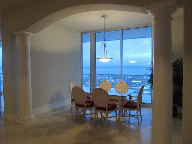 Formal Dining Area with Incredible Views