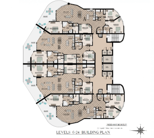 Abaco Gulf Shores Level 6 thru 24 Floorplans