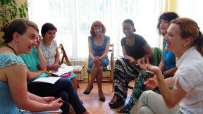 Dialogue between US and Moldovan students. Chisinau, Moldova