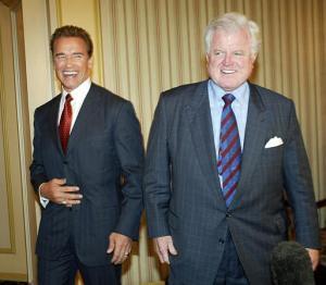 arnold Schwarzenegger ted kennedy