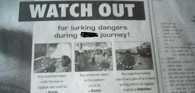 Newspaper clip about sabotage