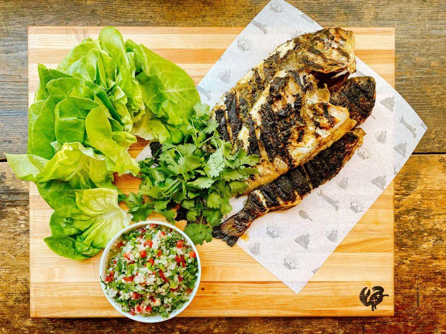 Grilled Jerk Fish