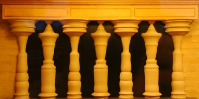 Illusion Picture: Normal Columns Or People?