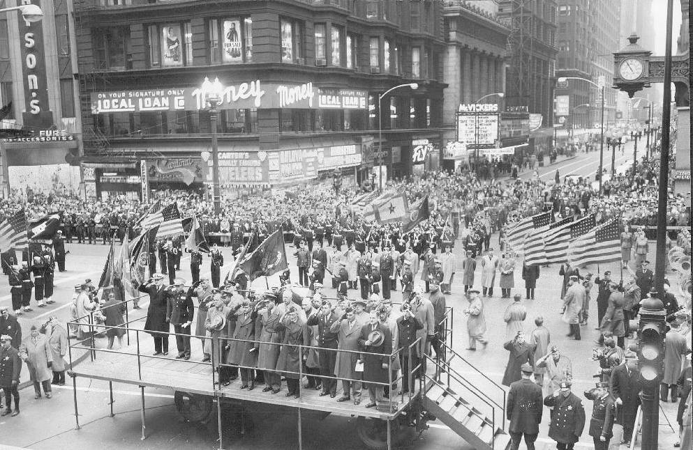 PHOTO – CHICAGO – STATE STREET AND MADISON – ARMISTICE DAY ...