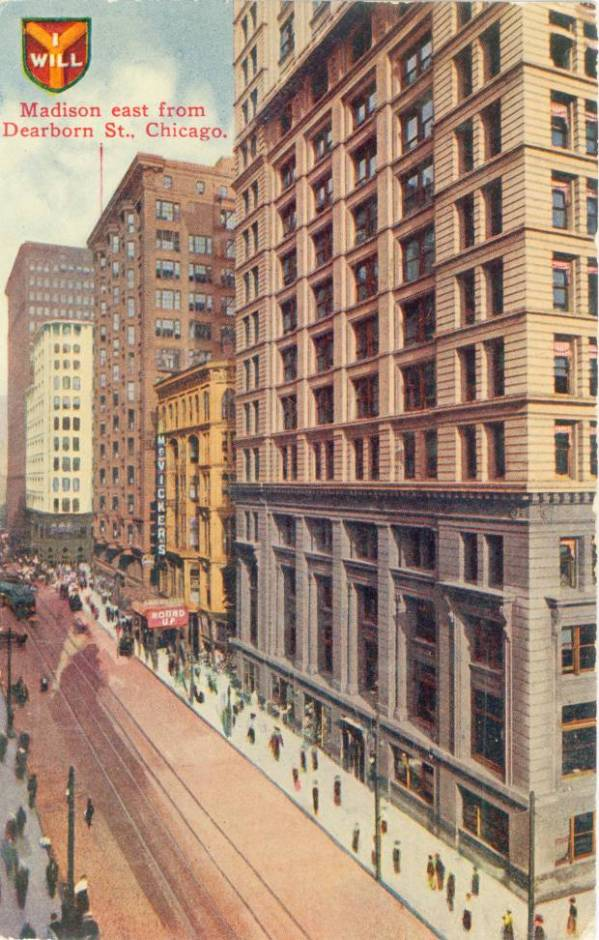 MADISON STREET EAST – FROM DEARBORN – AERIAL – MCVICKERS ...