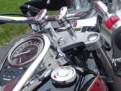 Kawasaki Handlebar Risers Chucksters Customs
