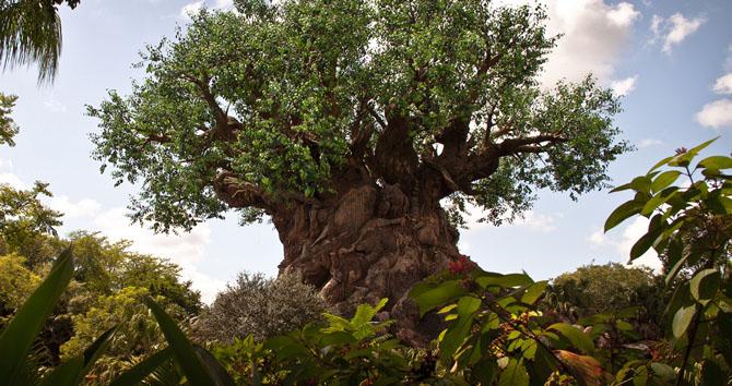 Древо жизни — символ парка. Высота — 44 м, ширина — 15 м.