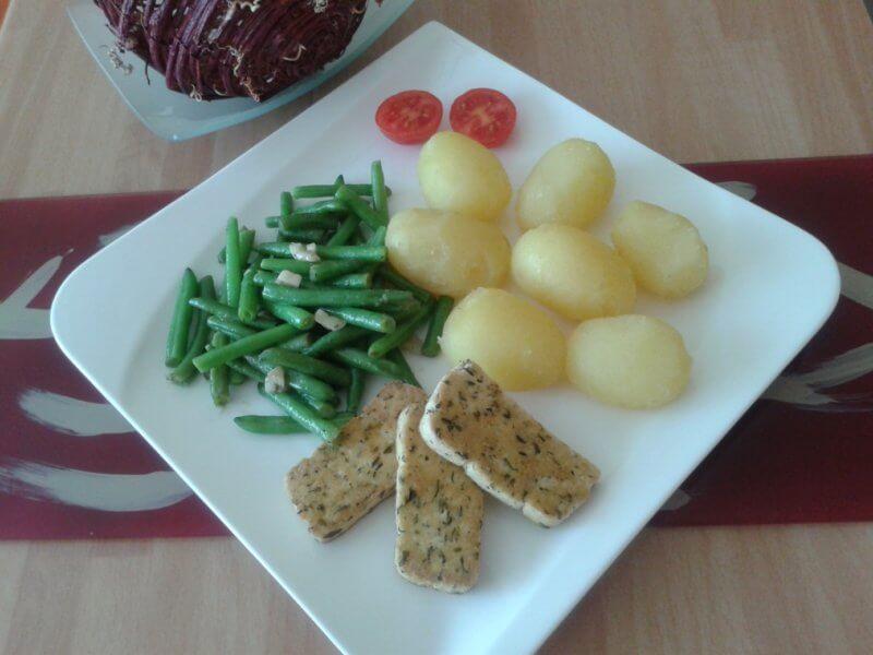 strukové fazuľky na masle