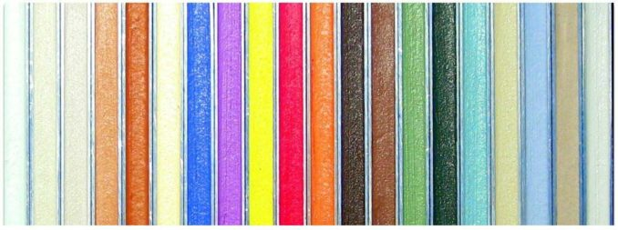 هذه هي ألوان الجص البوليمر للبلاط