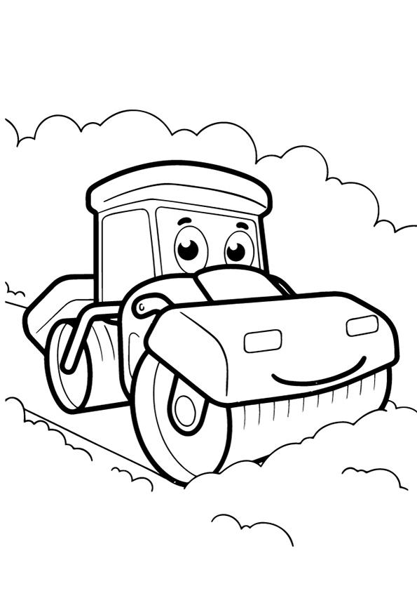 Раскраска каток   Виды транспорта   Чудо ребенок