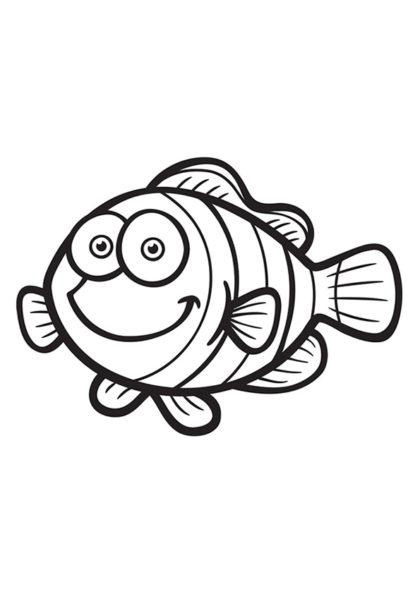 Раскраска Милая рыба–клоун | Подводный мир | Чудо ребенок