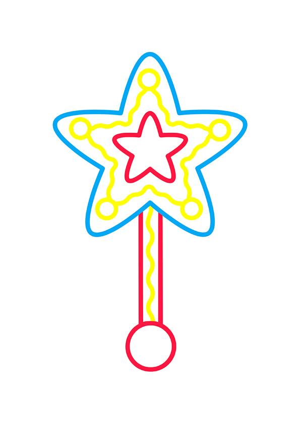 Раскраска Волшебная палочка–звезда   Чудо ребенок
