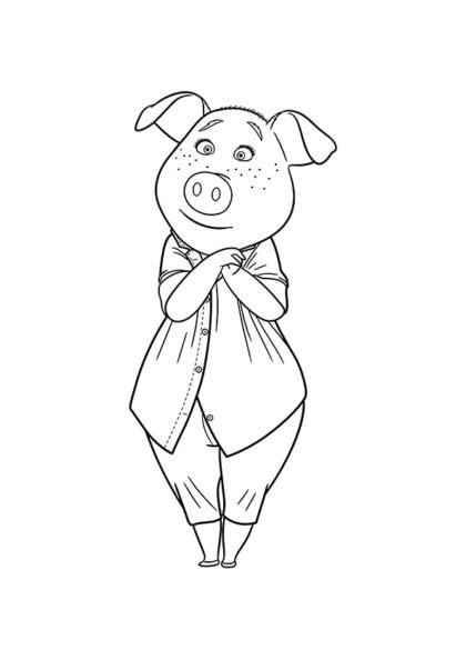 Раскраска Свинья-домохозяйка Розита | Зверопой | Чудо ребенок