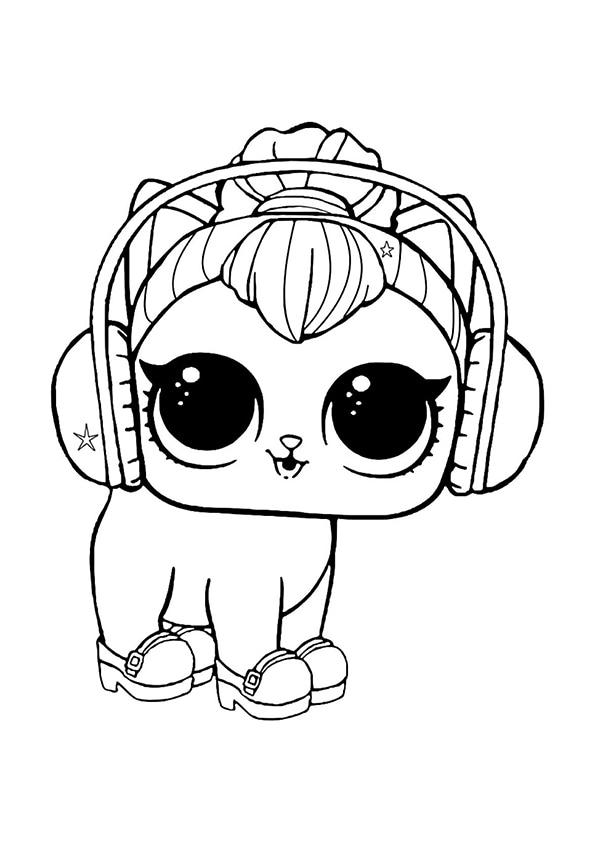 Раскраска Питомец котёнок Китти   Чудо ребенок