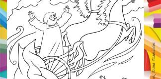 Христианская раскраска - Пророк Илия