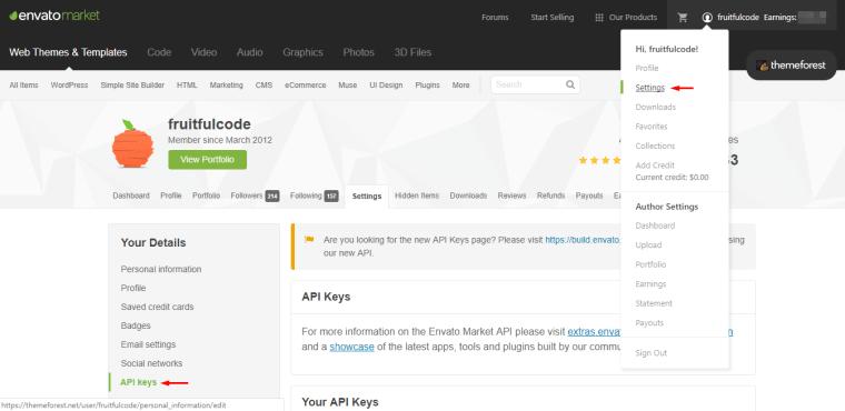 使用Envato WordPress Toolkit自动更新