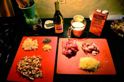 Chukar Risotto Ingredients