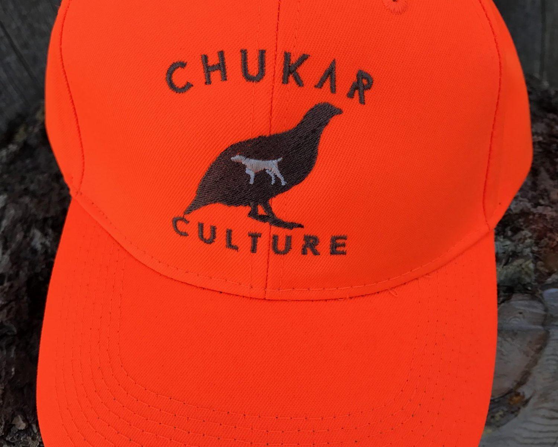 Blaze orange Chukar Culture hunting cap
