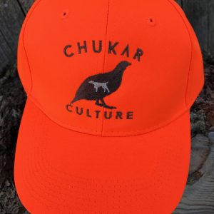 Blaze orange Chukar Culture hunting cap