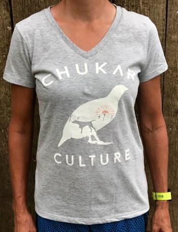 Chukar Culture Ladies V-neck t-shirt