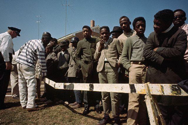 "lostinurbanism: ""Barricades blocking civil rights marchers from leaving black neighborhoods in Selma, Alabama. (1965) Photograph by Flip Schulke """