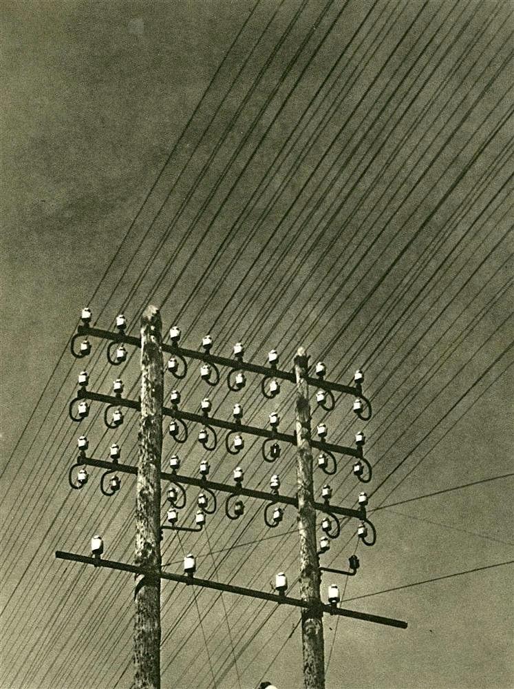 """magictransistor: """"Maurice Tabard, Lignes Electriques, c.1930. """" #softwarestudies"""