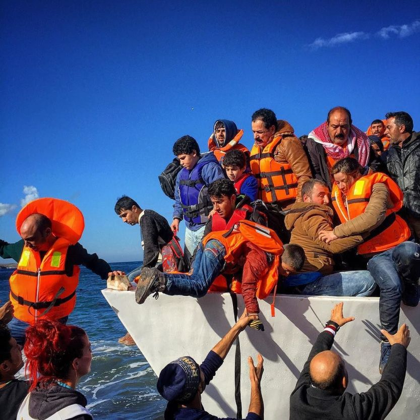 Back to Lesbos, Greece, refugees mostly from Iraq arriving on a vessel from Turkey. #refugees #refugeecrisis #iraqi by mmuheisen http://ift.tt/1PyFzWZ