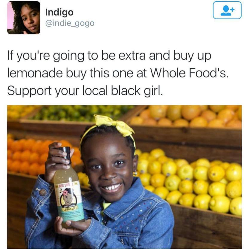 """thechanelmuse: """" cleophatracominatya: """" zoominfocus: """" #lemonade """" Yes! """" Mikaila Ulmer, now age 11, is the CEO and founder of BeeSweet Lemonade, a company she started at age 4. Here's a brief video with her résumé. She tells how she got Whole Foods..."""