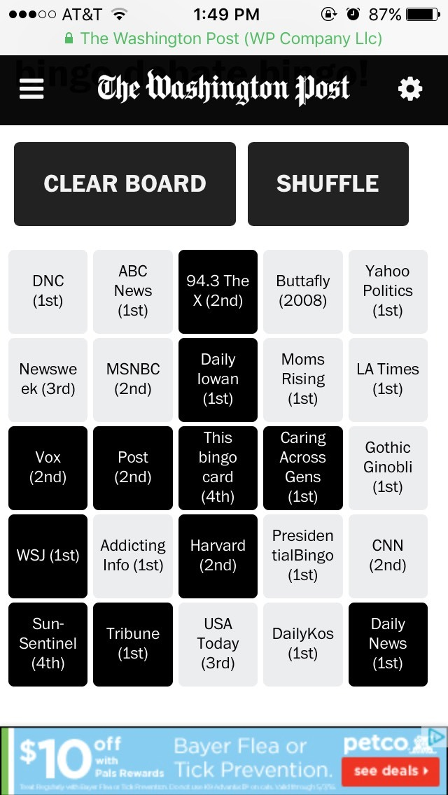 "From bingo games to brackets, The Washington Post is building ""alternative story forms"" » Nieman Journalism Lab"