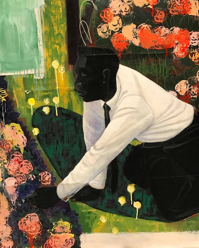 """bhsutton: """"Detail from Kerry James Marshall's """"Many Mansions"""" (1994) at the @metmuseum. (at The Met Breuer) """""""
