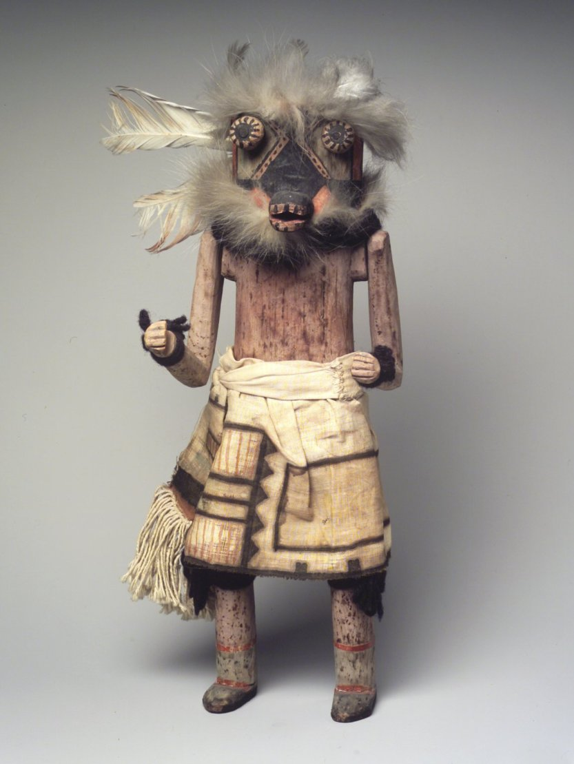 """brooklynmuseum: """" Kachina dolls are used by the Pueblo people to teach children about spiritual beliefs and were hung inside homes to help children remember the spirits associated with the dolls. There are many different spirits, each of which brings..."""