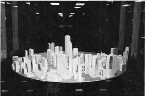 "indefiniteexpansion: ""Fig. 4. Photo of typical proximity model for city of Chicago used in wind tunnel testing (via Validating Wind-Induced Response of Tall… (PDF Download Available)) """