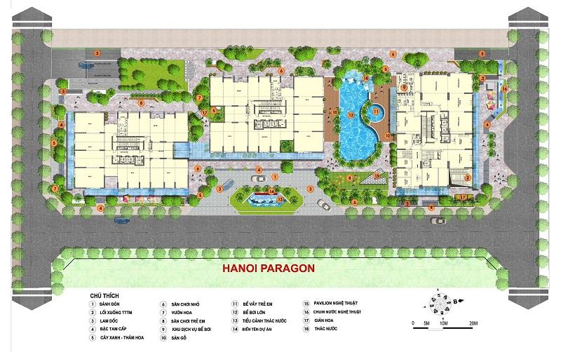 Thiết kế cảnh quan dự án Paragon Tower - Phạm Hùng