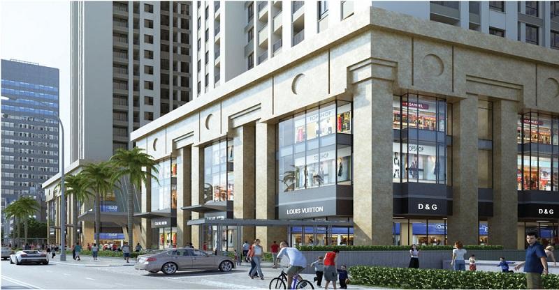 Trung tâm thương mại dự án Home City 177 Trung Kính