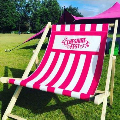 Giant Deckchair at Cheshire Fest