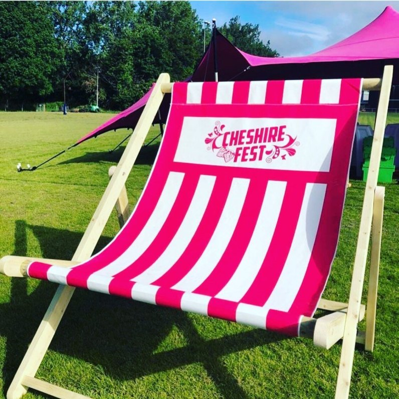 Giant Deckchair at Cheshire Fest