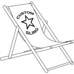 Giant Deckchair Frame and Sling