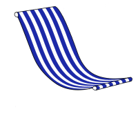 Giant Deckchair Pre Designed Striped Sling (Sling only)