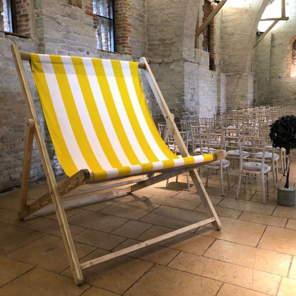 Yellow Striped Giant Deckchair