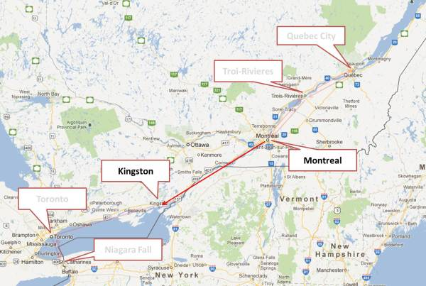 Montreal to Kingston