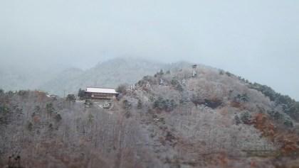 長野県千曲市戸倉上山田温泉積雪状況城山荒砥城