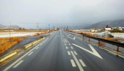 長野県千曲市戸倉上山田温泉積雪状況力石バイパス