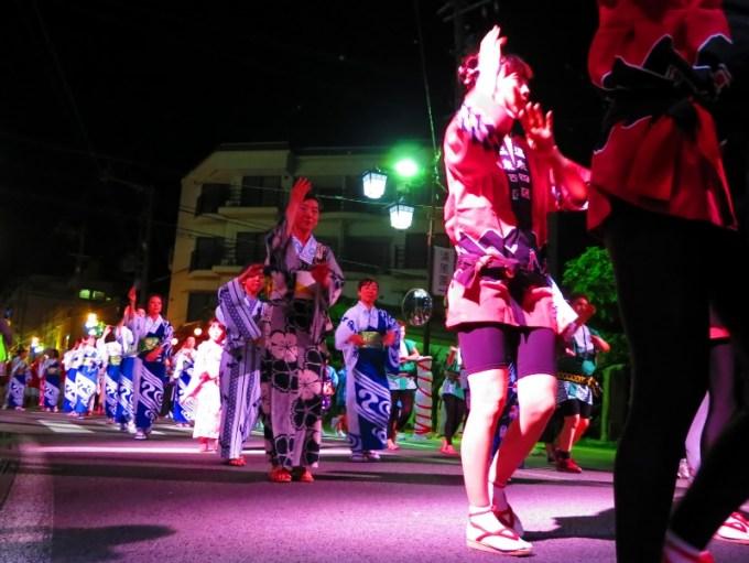 戸倉上山田温泉夏祭り花火大会民踊流し
