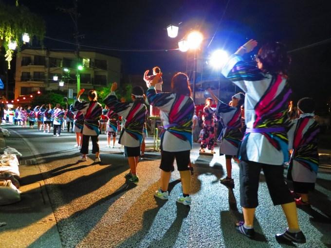 戸倉上山田温泉夏祭り民謡踊り