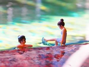 コップのフチ子温泉中央ホテル女湯