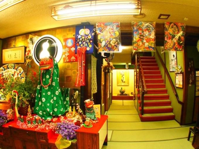 戸倉上山田温泉中央ホテル年末年始正月飾り付け