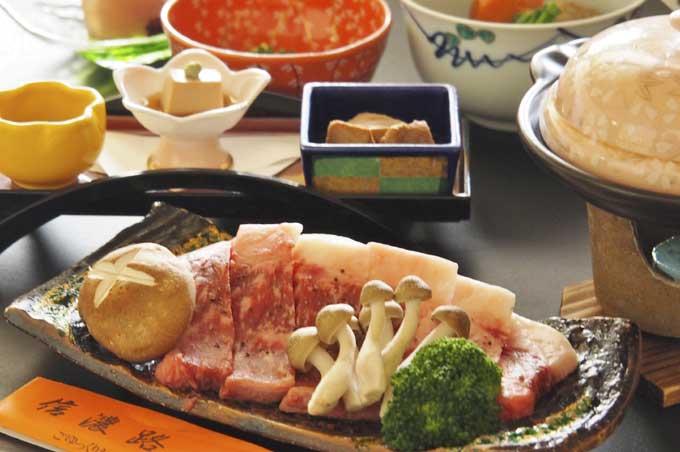 信州郷土料理和牛サーロイン陶板焼きプラン